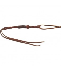 Barrel whip in braided leathe
