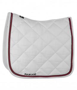 Pariani saddle pad white/red