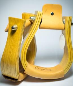 Staffe western cuoio/legno