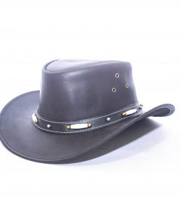 Particolare di Cappello Western Cuoio Decorato