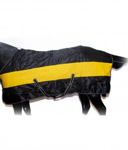 Box rug yellow/black