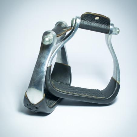 Staffe Western in Alluminio nere