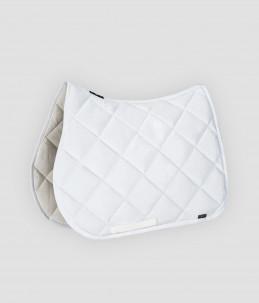Equiline rectangular saddle pad rhombus model - White