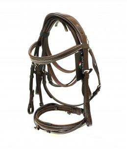 Equiline English headpiece model BJ301 - Brown
