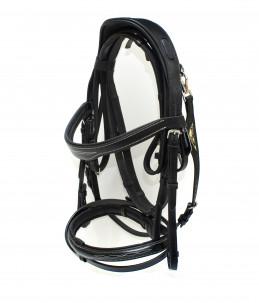 Equiline English headpiece model BJ301- black