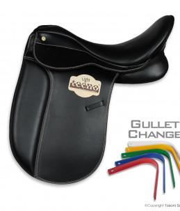 Dressage saddle Barbarano Gullet Change