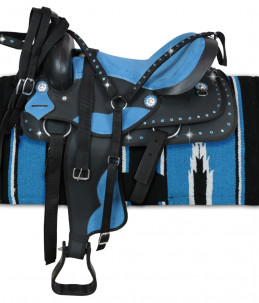 Sella Western Silver Star Color Turquoise